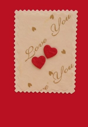 love hearts handmade romantic cards