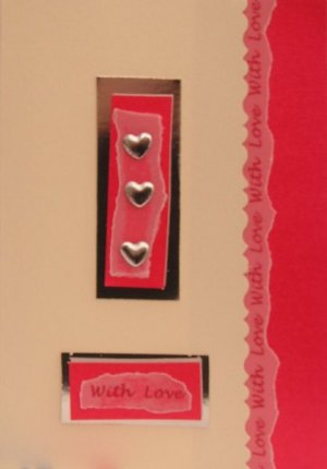 love heart trio handmade romantic cards
