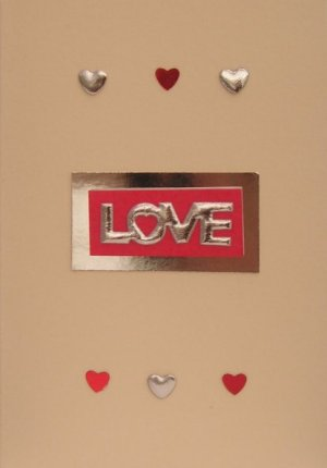 shiny love handmade romantic cards