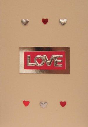shiny love handmade romantic cards
